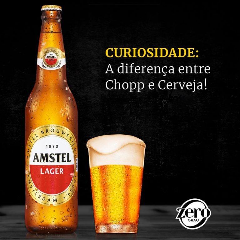Cerveja e chopp qual a diferença | Bar Zero Grau